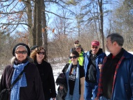 RPCVs and friends enjoy a winter hike in the Albany Pine Bush